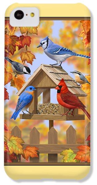 Bluebird iPhone 5c Case - Bird Painting - Autumn Aquaintances by Crista Forest