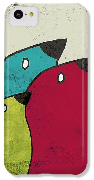 Birdies - V101s1t IPhone 5c Case by Variance Collections