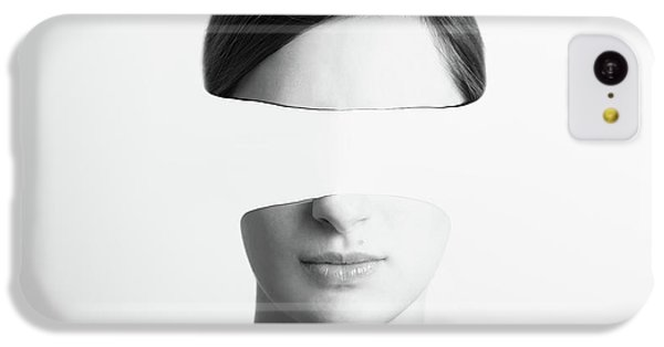 Black And White Abstract Woman Portrait Of Identity Theft Concept IPhone 5c Case by Radu Bercan