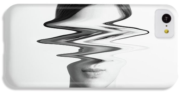 Black And White Abstract Woman Portrait Of Restlessness Concept IPhone 5c Case by Radu Bercan
