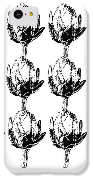Black And White Artichokes- Art By Linda Woods IPhone 5c Case