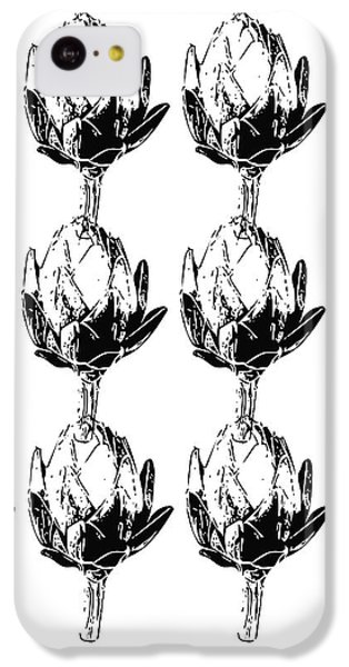 Black And White Artichokes- Art By Linda Woods IPhone 5c Case by Linda Woods