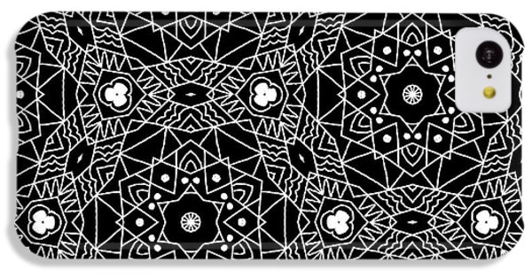 Black And White Boho Pattern 3- Art By Linda Woods IPhone 5c Case by Linda Woods