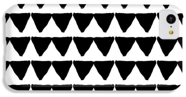 Black And White Triangles- Art By Linda Woods IPhone 5c Case by Linda Woods