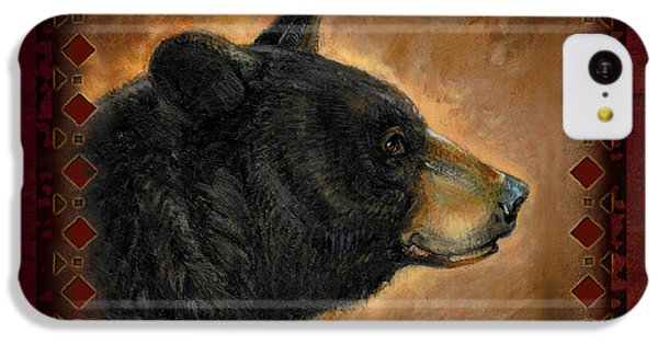 Wildlife iPhone 5c Case - Black Bear Lodge by JQ Licensing