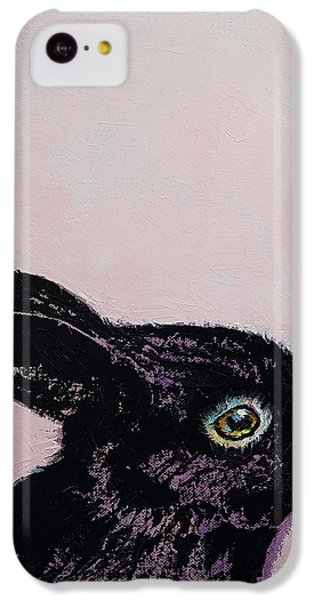Black Bunny IPhone 5c Case by Michael Creese