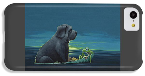 Frogs iPhone 5c Case - Black Dog by Jasper Oostland