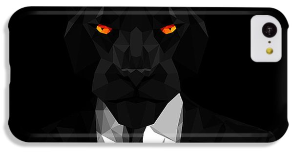 Blacl Panther IPhone 5c Case by Gallini Design