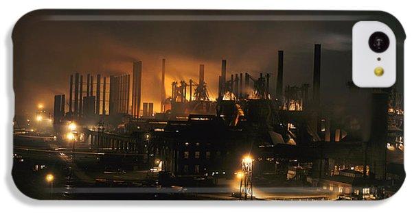 Blast Furnaces Of A Steel Mill Light IPhone 5c Case