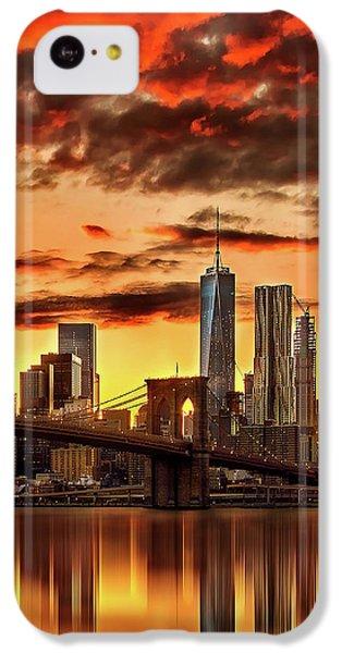 Blazing Manhattan Skyline IPhone 5c Case