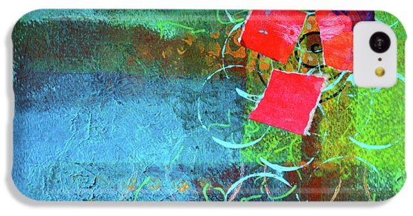IPhone 5c Case featuring the mixed media Bloom Abstract Collage by Nancy Merkle