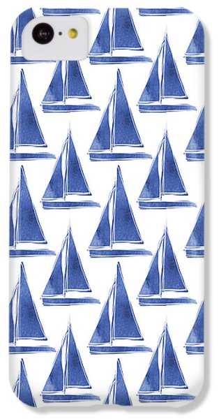 Blue And White Sailboats Pattern- Art By Linda Woods IPhone 5c Case
