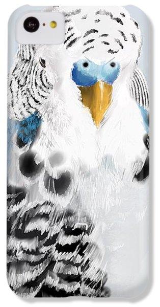Parakeet iPhone 5c Case - Blue Budgie by KC Gillies
