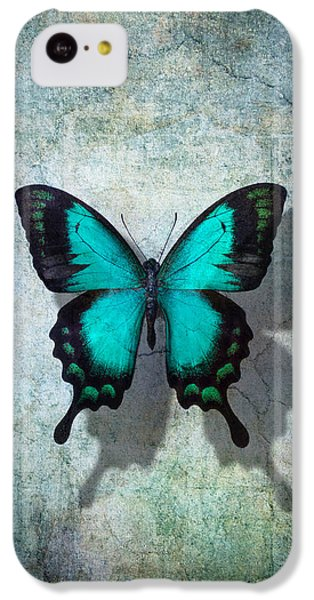 Blue Butterfly Resting IPhone 5c Case