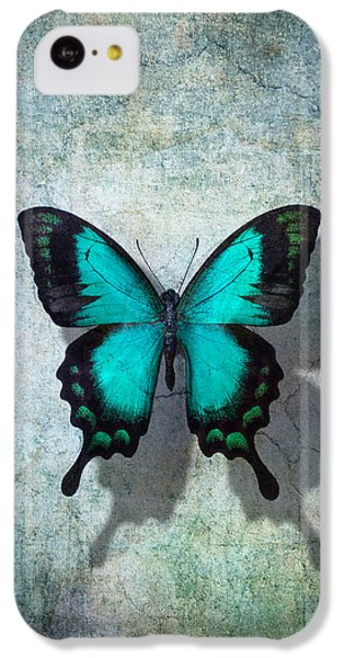 Animals iPhone 5c Case - Blue Butterfly Resting by Garry Gay