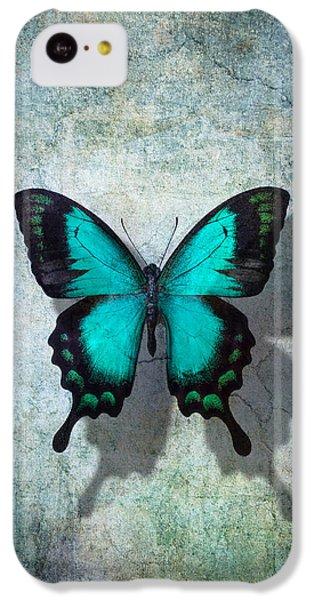 Blue Butterfly Resting IPhone 5c Case by Garry Gay