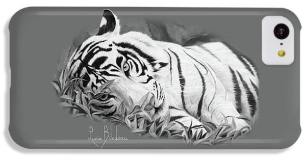 Blue Eyes - Black And White IPhone 5c Case by Lucie Bilodeau