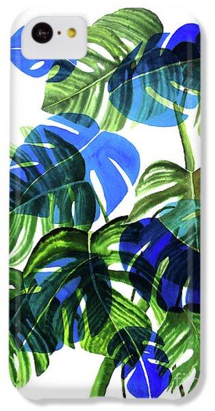 Blue Monstera IPhone 5c Case