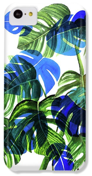 Blue Monstera IPhone 5c Case by Ana Martinez