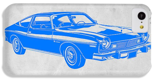 Landmarks iPhone 5c Case - Blue Muscle Car by Naxart Studio