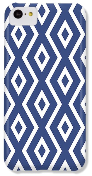 Pattern iPhone 5c Case - Blue Pattern by Christina Rollo