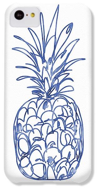 Blue Pineapple- Art By Linda Woods IPhone 5c Case by Linda Woods