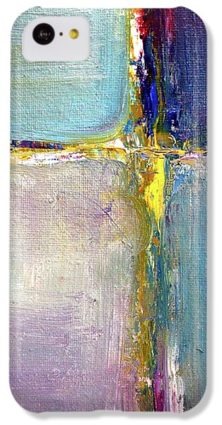 IPhone 5c Case featuring the painting Blue Quarters by Nancy Merkle