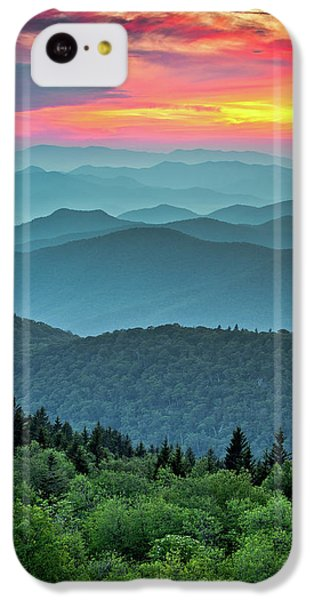 Sunset iPhone 5c Case - Blue Ridge Parkway Sunset - The Great Blue Yonder by Dave Allen