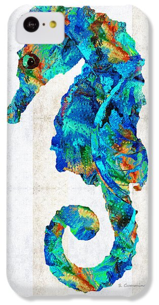 Blue Seahorse Art By Sharon Cummings IPhone 5c Case