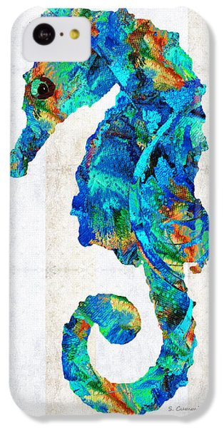 Blue Seahorse Art By Sharon Cummings IPhone 5c Case by Sharon Cummings