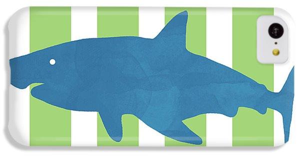 Hammerhead Shark iPhone 5c Case - Blue Shark 1- Art By Linda Woods by Linda Woods