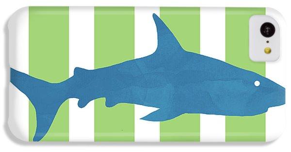 Hammerhead Shark iPhone 5c Case -  Blue Shark 2- Art By Linda Woods by Linda Woods
