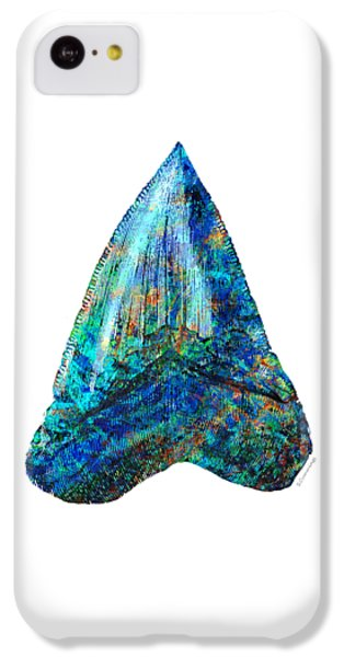 Blue Shark Tooth Art By Sharon Cummings IPhone 5c Case by Sharon Cummings