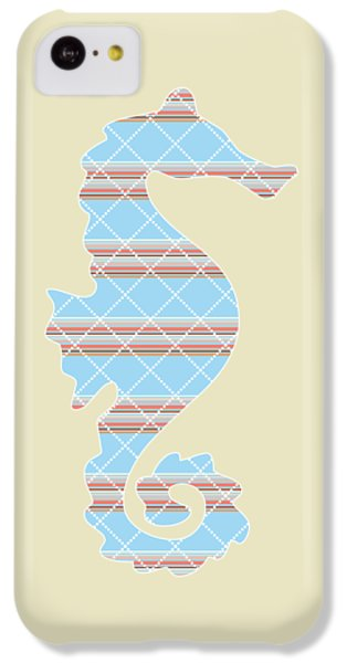 Blue Stripe Pattern Aged IPhone 5c Case by Christina Rollo