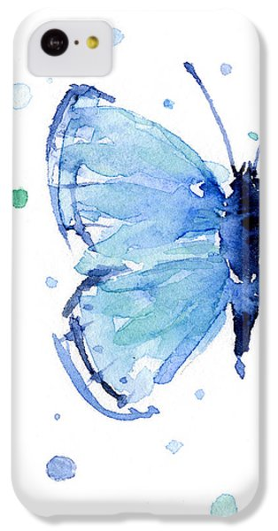 Blue Watercolor Butterfly IPhone 5c Case