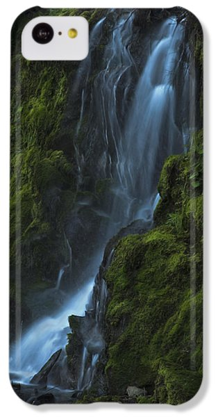 IPhone 5c Case featuring the photograph Blue Waterfall by Yulia Kazansky