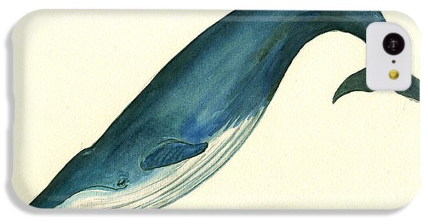 Blue Whale Painting IPhone 5c Case by Juan  Bosco
