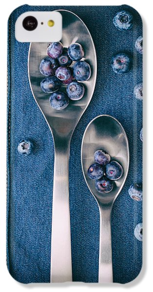 Blueberries On Denim I IPhone 5c Case by Tom Mc Nemar