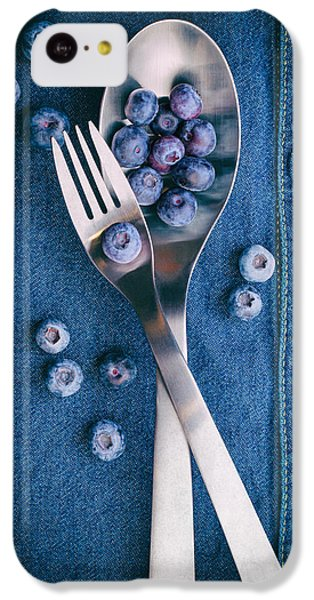 Blueberries On Denim II IPhone 5c Case by Tom Mc Nemar