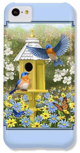 Bluebird Garden Home IPhone 5c Case by Crista Forest
