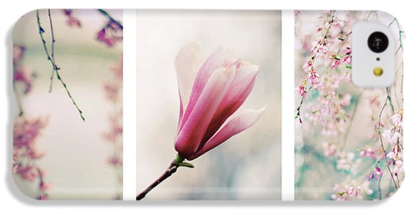 IPhone 5c Case featuring the photograph Blush Blossom Triptych by Jessica Jenney