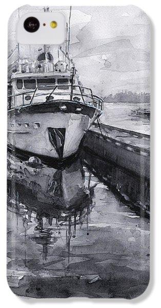 Seattle iPhone 5c Case - Boat On Waterfront Marina Kirkland Washington by Olga Shvartsur
