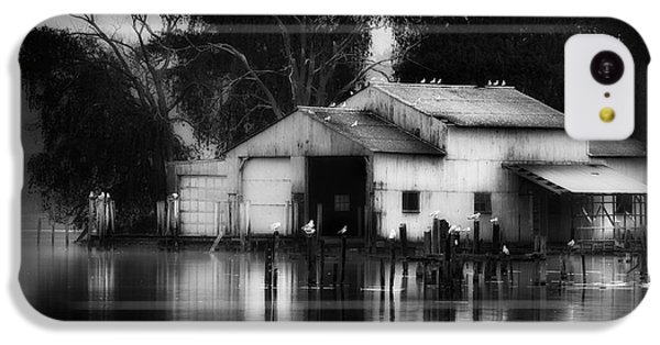 IPhone 5c Case featuring the photograph Boathouse Bw by Bill Wakeley