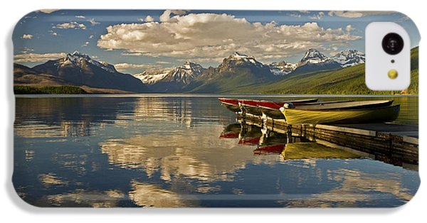 IPhone 5c Case featuring the photograph Boats At Lake Mcdonald by Gary Lengyel