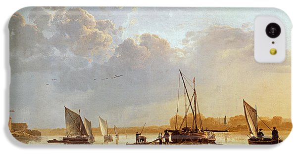 Boat iPhone 5c Case - Boats On A River by Aelbert Cuyp