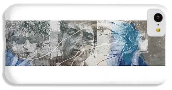 Bob Dylan iPhone 5c Case - Bob Dylan Triptych by Paul Lovering