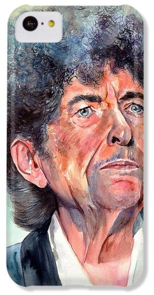 Bob Dylan iPhone 5c Case - Bob Dylan Watercolor Portrait  by Suzann's Art
