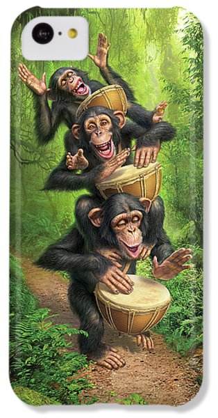 Drum iPhone 5c Case - Bongo In The Jungle by Mark Fredrickson