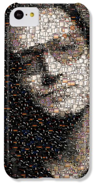 Bono iPhone 5c Case - Bono U2 Albums Mosaic by Paul Van Scott