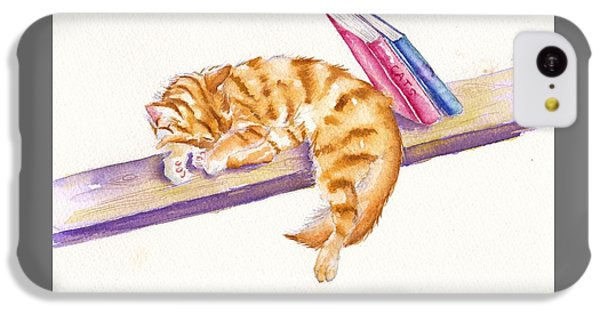 Cat iPhone 5c Case - Bookend by Debra Hall
